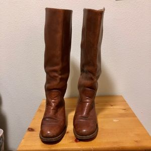 Vintage Frye leather campus pull on  boots size 8B